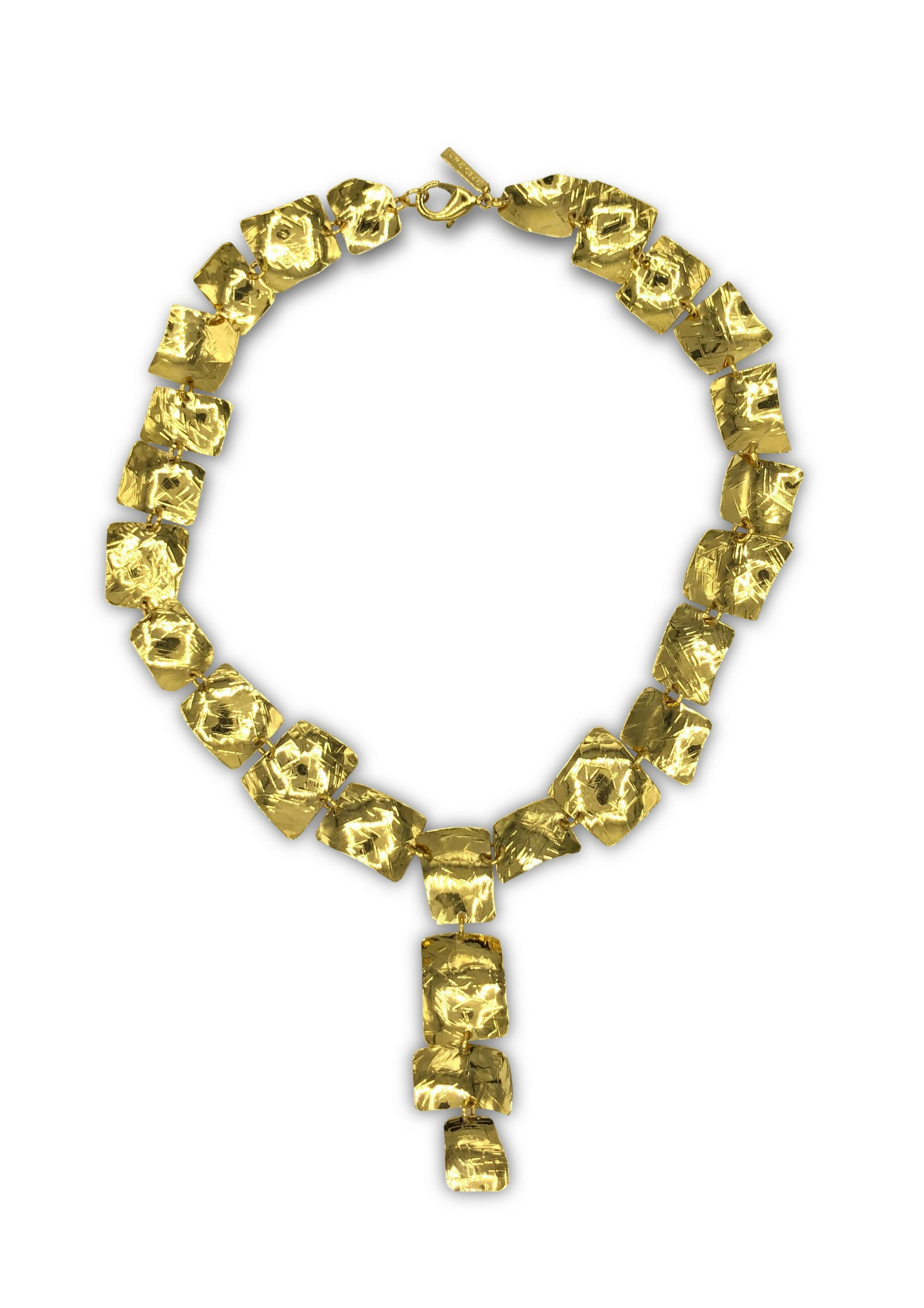 Gold Drop Pendant Prairie Necklace-Necklaces-JAREDJAMIN Jewelry Online-JARED JAMIN