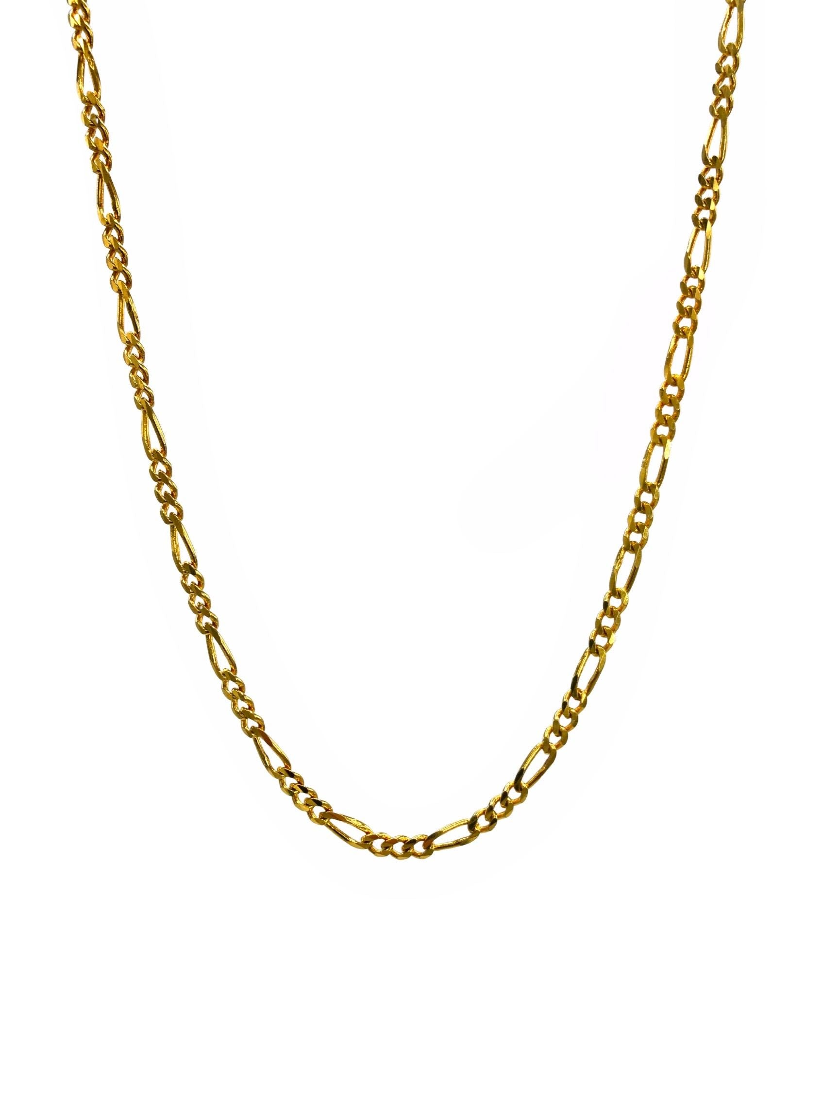 Gold Finley-Figaro Chain Link Necklace-Necklaces-Jared Jamin Online-JARED JAMIN