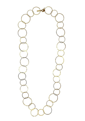 Gold Halo Lindy Links Long Necklace-Necklaces-Jared Jamin Online-JARED JAMIN