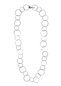 Silver Lindy Links Long Necklace-Necklaces-Jared Jamin Online-White Rhodium-JARED JAMIN