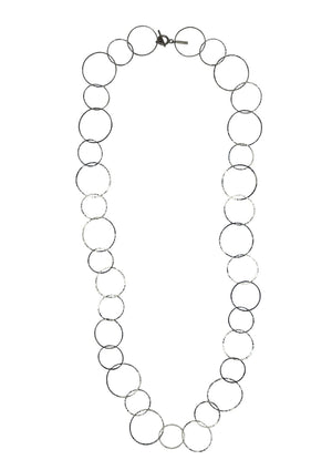 Silver Halo Lindy Links Long Necklace-Necklaces-Jared Jamin Online-JARED JAMIN