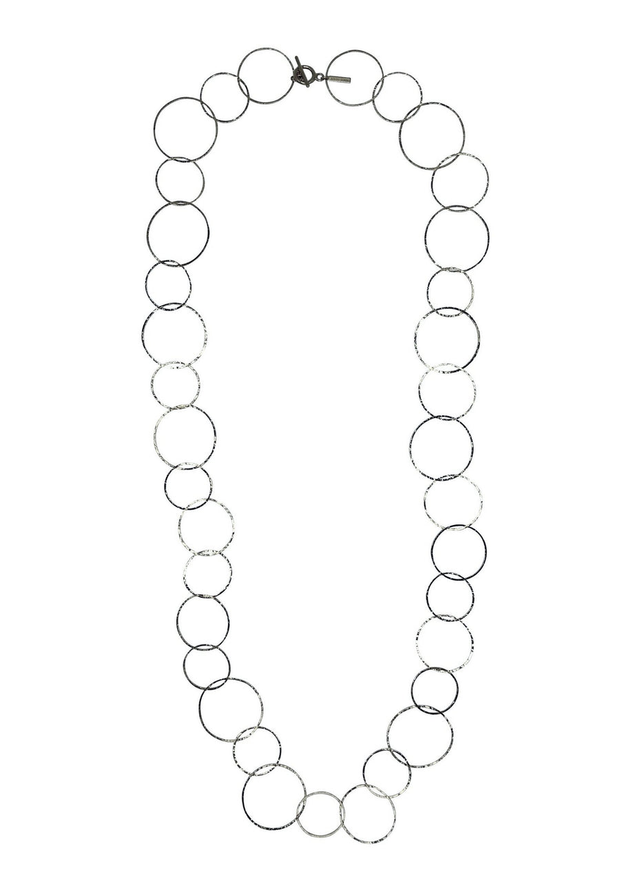 Silver Lindy Links Long Necklace-Necklaces-Jared Jamin Online-JARED JAMIN