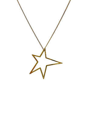 "Gold Shooting Star Dust Charm & Chain Necklace-Necklaces-JAREDJAMIN Jewelry Online-18""-20""-22""-JAREDJAMIN - Fashion Jewelry & Accessories"