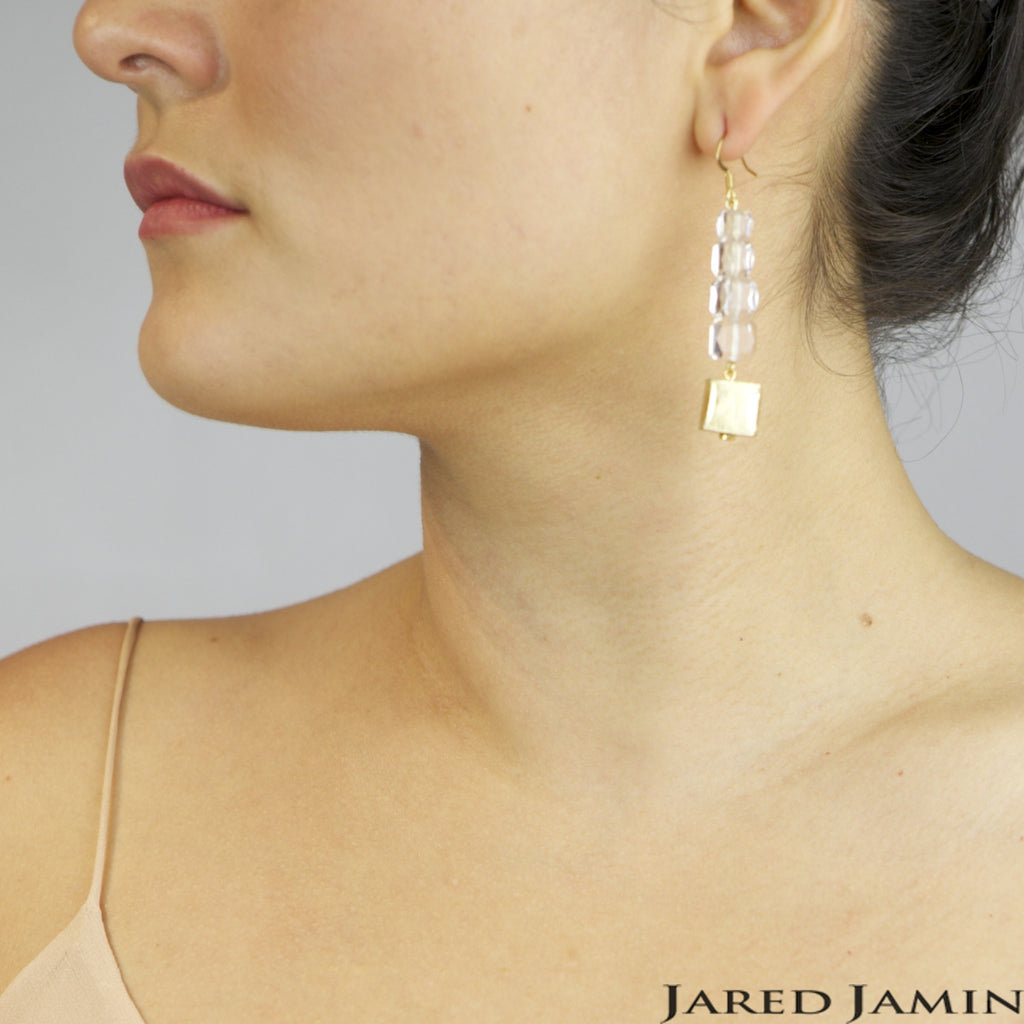 Earrings - Jared Jamin  - Jared Jamin Online - Golden Cubes Earrings -  - 3