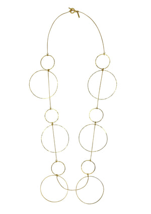 Halo Douze Hoop Long Necklace-Necklaces-Jared Jamin Online-JARED JAMIN