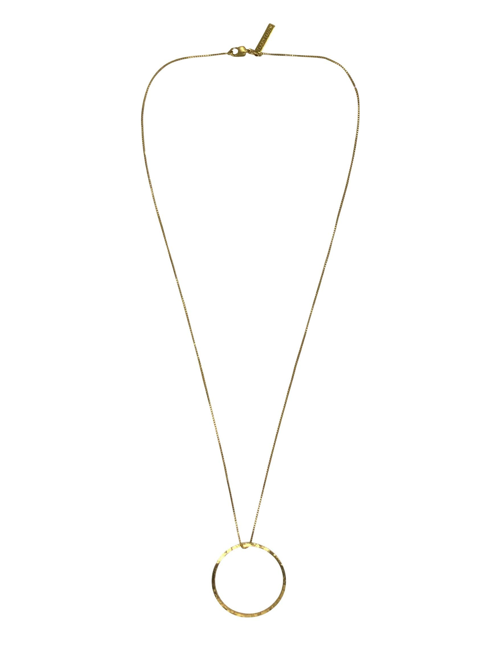 Halo Lindy Gold Circle Pendant Necklace-Necklaces-JAREDJAMIN Jewelry Online-JARED JAMIN