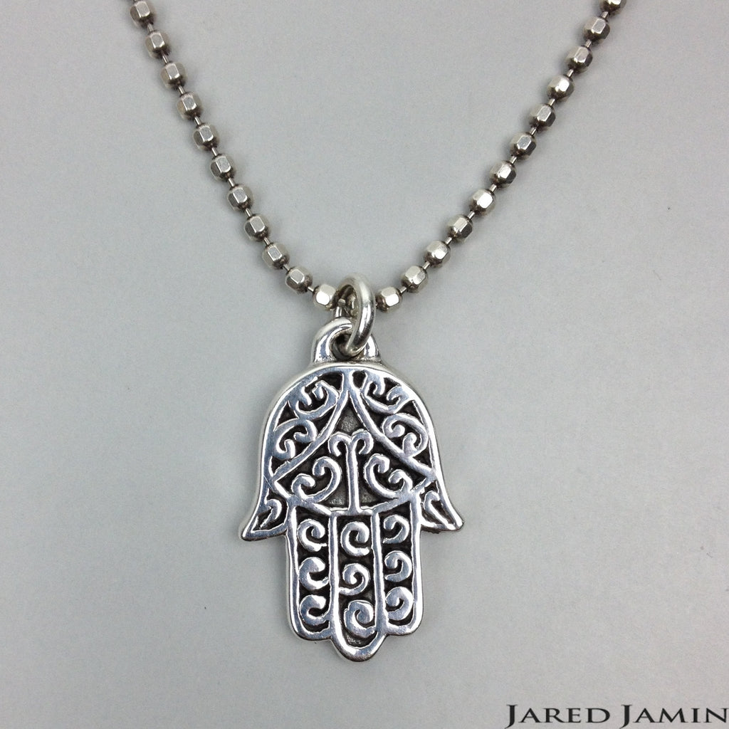 Necklaces - Jared Jamin  - Jared Jamin Online - Hand Held Hamsa Necklace -  - 1