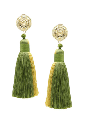 Henley Tassel Earrings-Earrings-Jared Jamin Online-Green / Yellow-JARED JAMIN