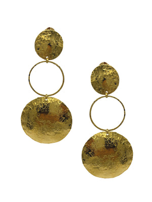 Hera Textured Clip Earrings-Earrings-JAREDJAMIN Jewelry Online-JARED JAMIN