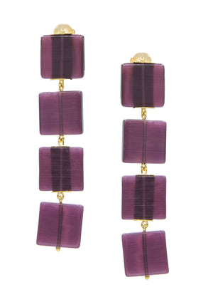 Hollywood Squares Earrings-Earrings-JAREDJAMIN Jewelry Online-Purple-JARED JAMIN