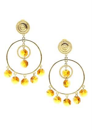 Starshine Chandelier Clip Earrings-Earrings-Jared Jamin Online-Gold / Marigold-JARED JAMIN