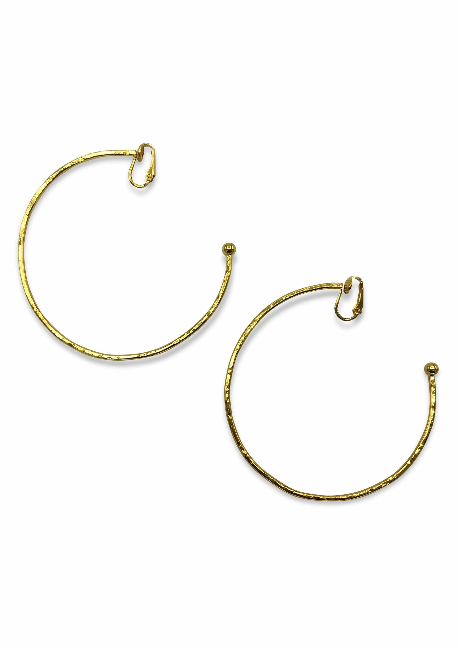 Gold Medium Hooptastic Clip Earrings-Earrings-JAREDJAMIN Jewelry Online-JARED JAMIN