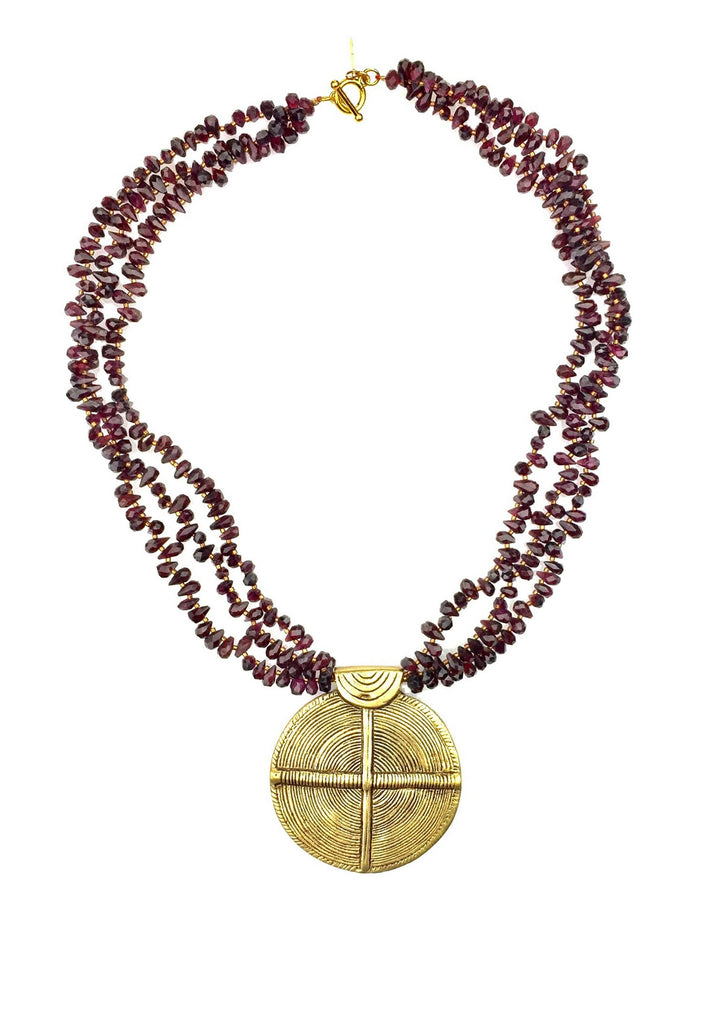 Hostia Santa Garnet Necklace-Necklaces-Jared Jamin Online-Garnet-JARED JAMIN