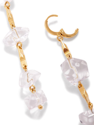 Ice Dangle Gold Leverback Earrings-Earrings-JAREDJAMIN Jewelry Online-JARED JAMIN