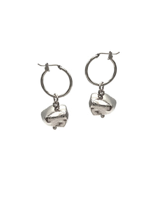 Silver Nugget Earring Charms-Womens Charms for Earrings-JAREDJAMIN Jewelry Online-JARED JAMIN