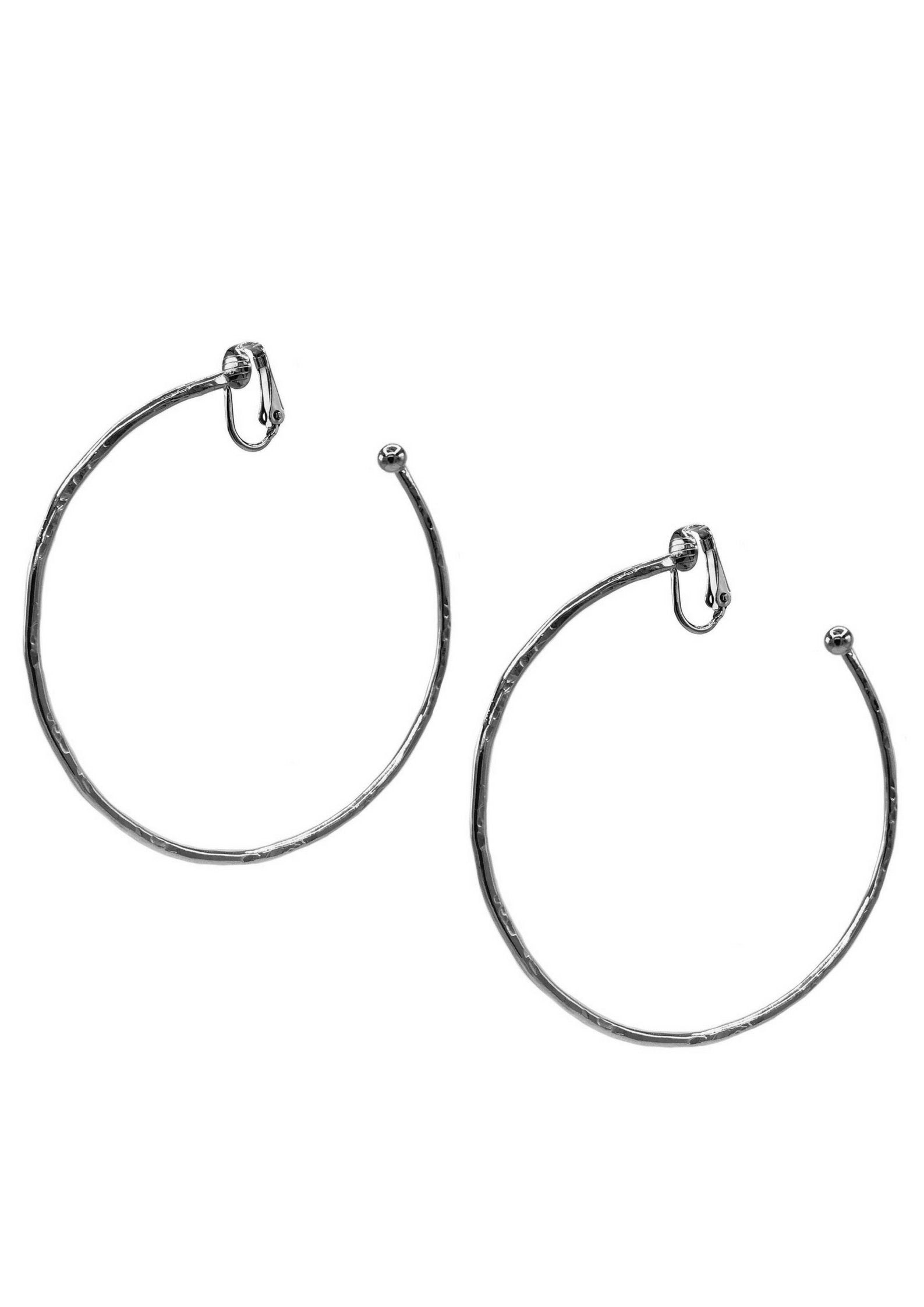 Silver Medium Hooptastic Clip Earrings-Earrings-JAREDJAMIN Jewelry Online-JARED JAMIN