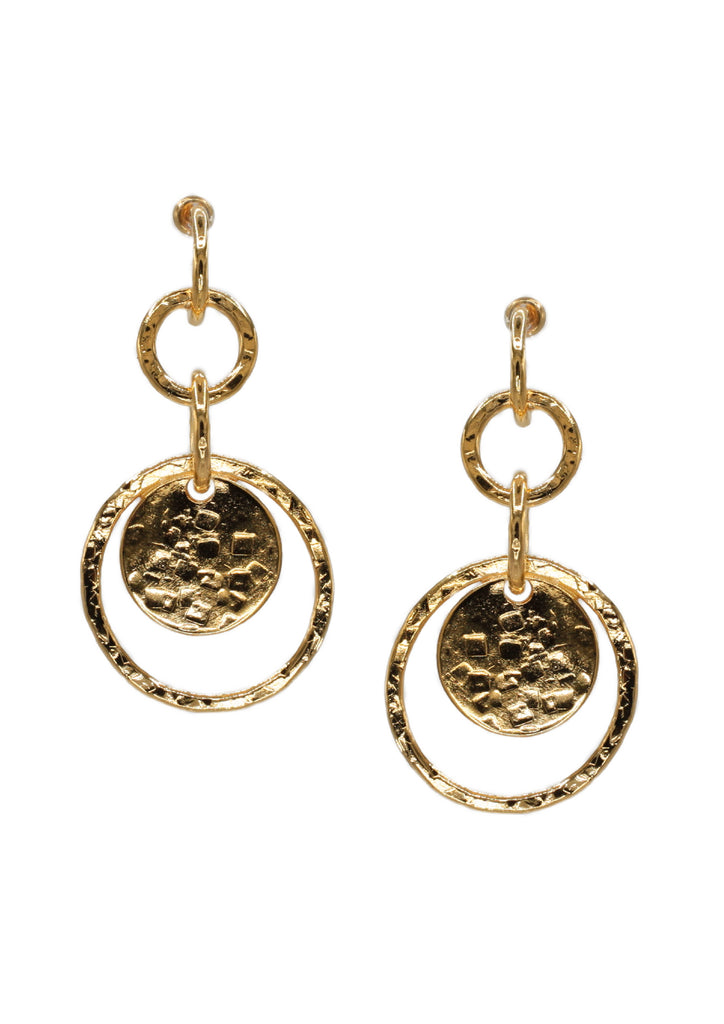 Gold Peacock Preen Post Earrings-Earrings-Jared Jamin Online-18K Gold-JARED JAMIN