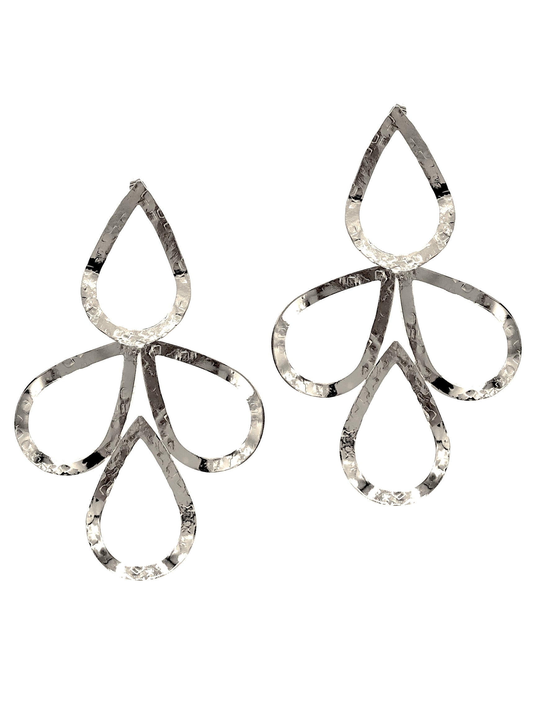 Silver Julia Drop Earrings-Earrings-JAREDJAMIN Jewelry Online-JARED JAMIN
