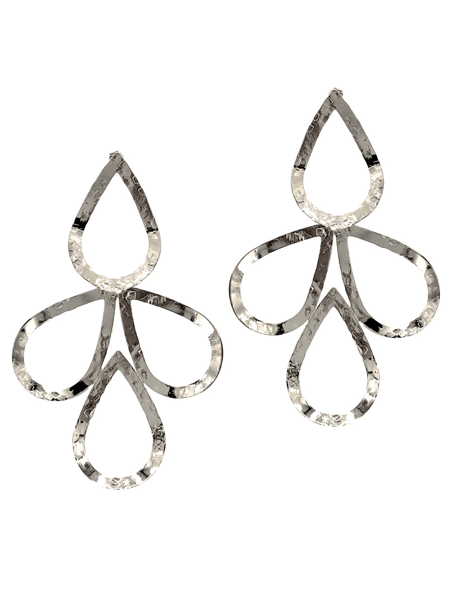 Silver Julia Drop Earrings-Earrings-Jared Jamin Online-JARED JAMIN