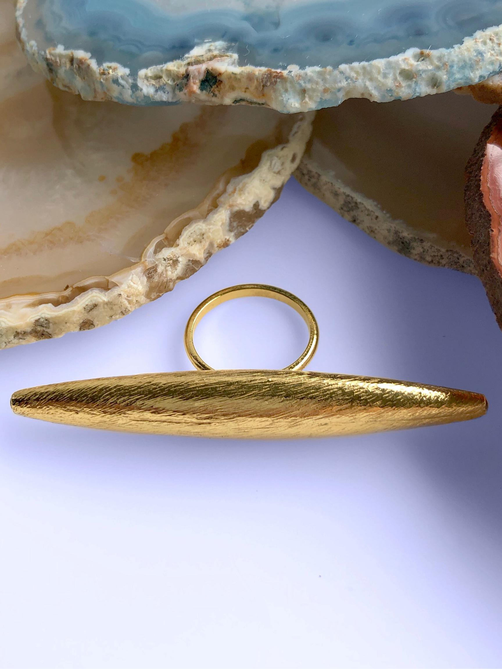 Zeppelin Large Gold Ring-Womens rings-JAREDJAMIN Jewelry Online-JARED JAMIN