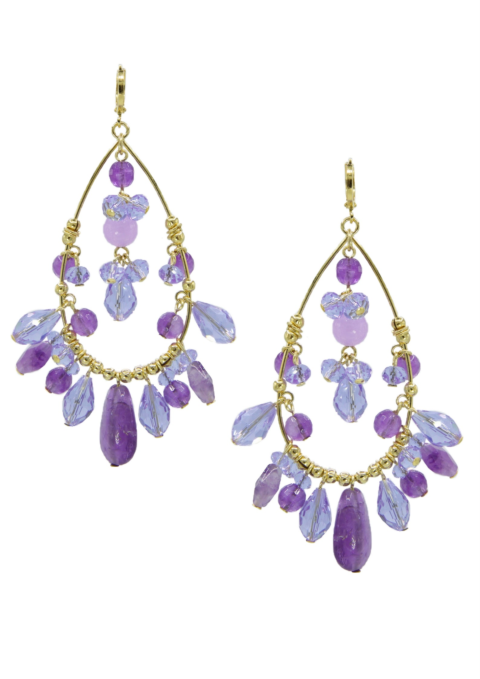Lilac Lady Chandelier Earrings JARED JAMIN