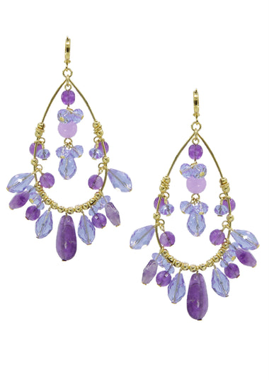 Lilac Lady Chandelier Earrings