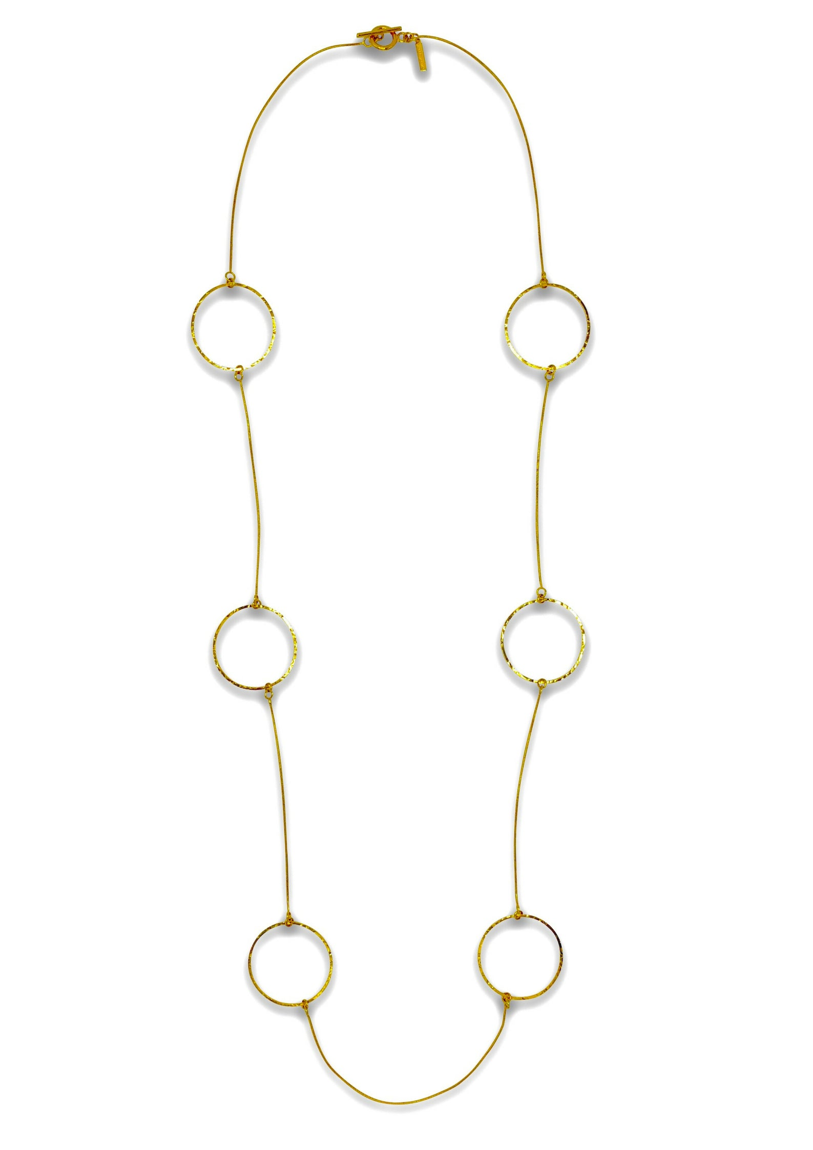 Halo Lindy Textured Gold Hoop Necklace-Necklaces-JAREDJAMIN Jewelry Online-JARED JAMIN