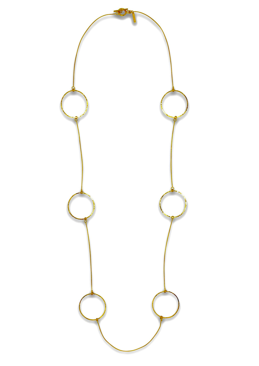 Lindy Textured Gold Hoop Necklace-Necklaces-Jared Jamin Online-JARED JAMIN