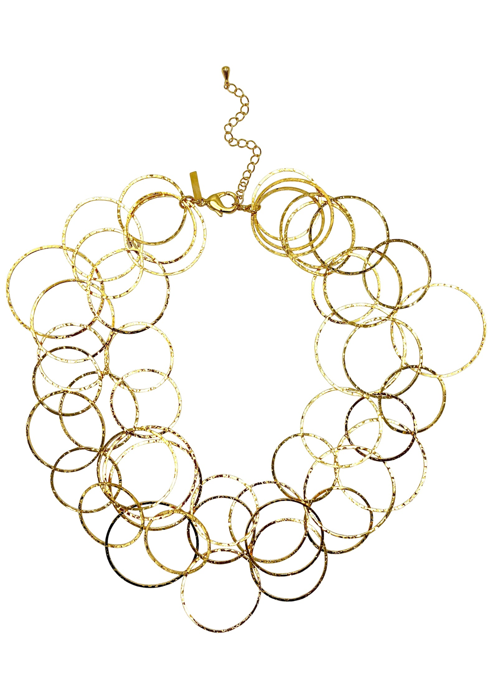 Gold Halo Lindy Links Layered Necklace-Necklaces-JAREDJAMIN Jewelry Online-JARED JAMIN