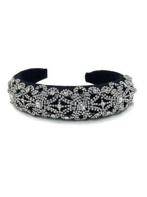 Charlotte Crystal Lace Headband-Hair Accessories-JAREDJAMIN Jewelry Online-JARED JAMIN