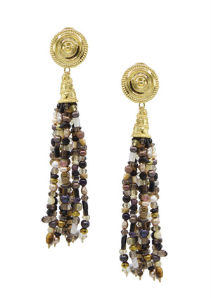 Loquacious Tassel Earrings-Earrings-JAREDJAMIN Jewelry Online-Multi Color-JARED JAMIN