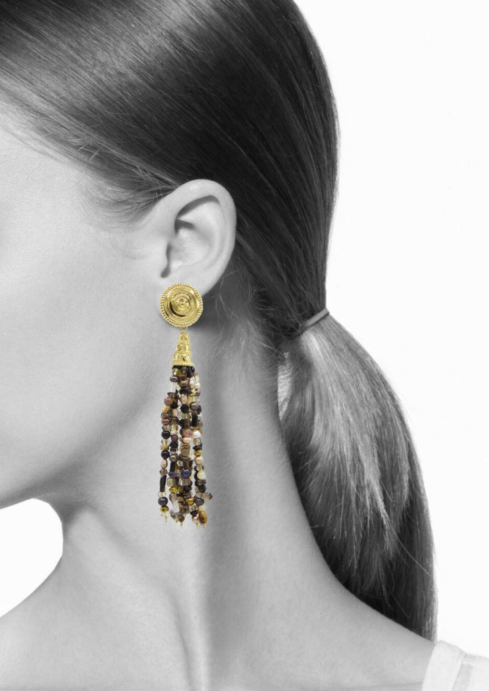 Loquacious Tassel Earrings-Earrings-Jared Jamin Online-Multi Color-JARED JAMIN