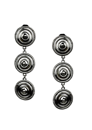 Minerva Black Clip Earrings-Earrings-Jared Jamin Online-Gunmetal-JARED JAMIN