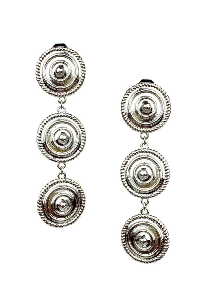 Minerva Silver Clip Earrings-Earrings-Jared Jamin Online-Silver-JARED JAMIN