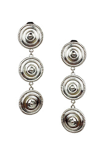 Minerva Silver Clip Earrings