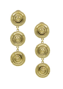 Minerva Gold Clip Earrings