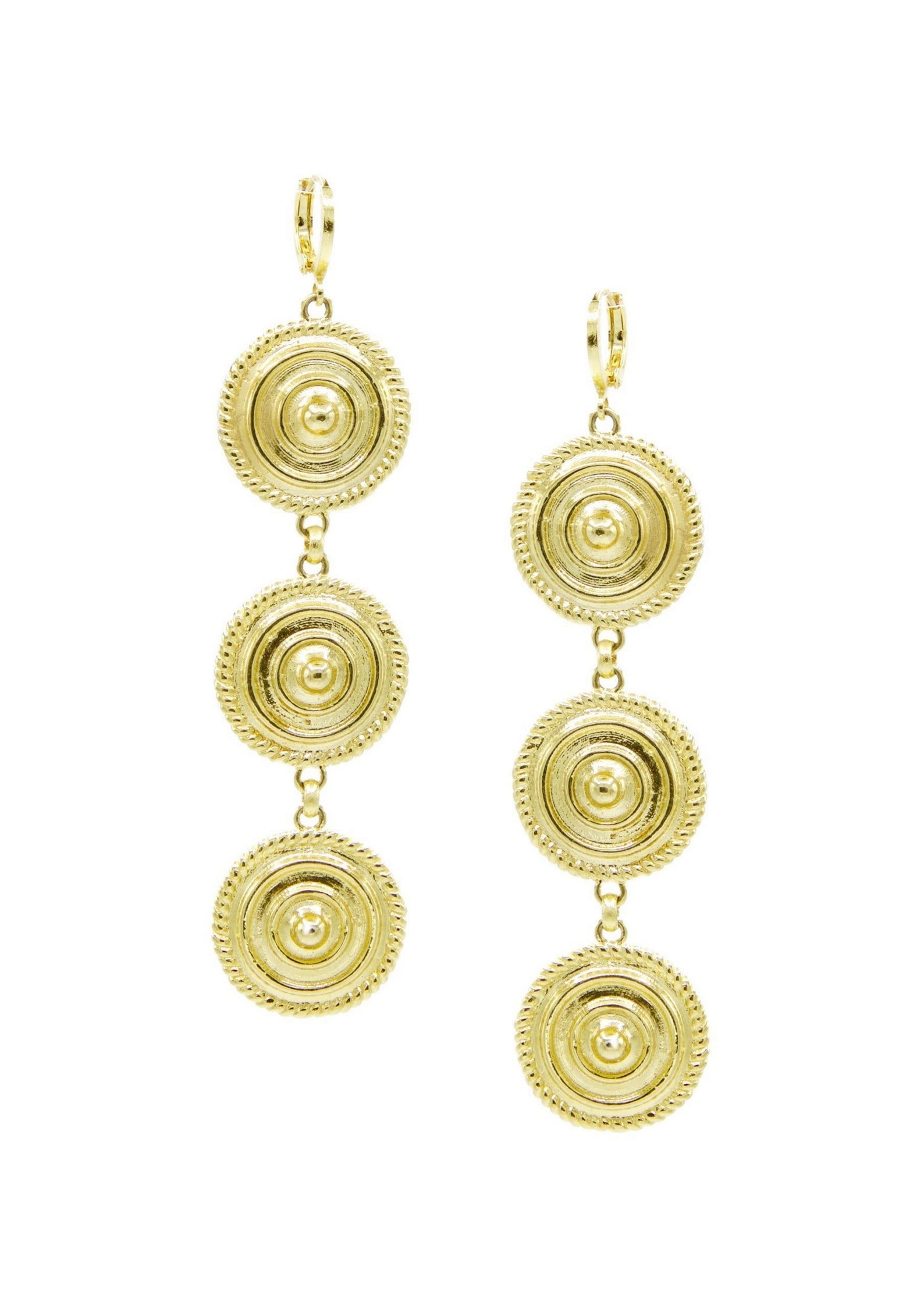 Minerva Gold Leverback Earrings-Earrings-Jared Jamin Online-JARED JAMIN