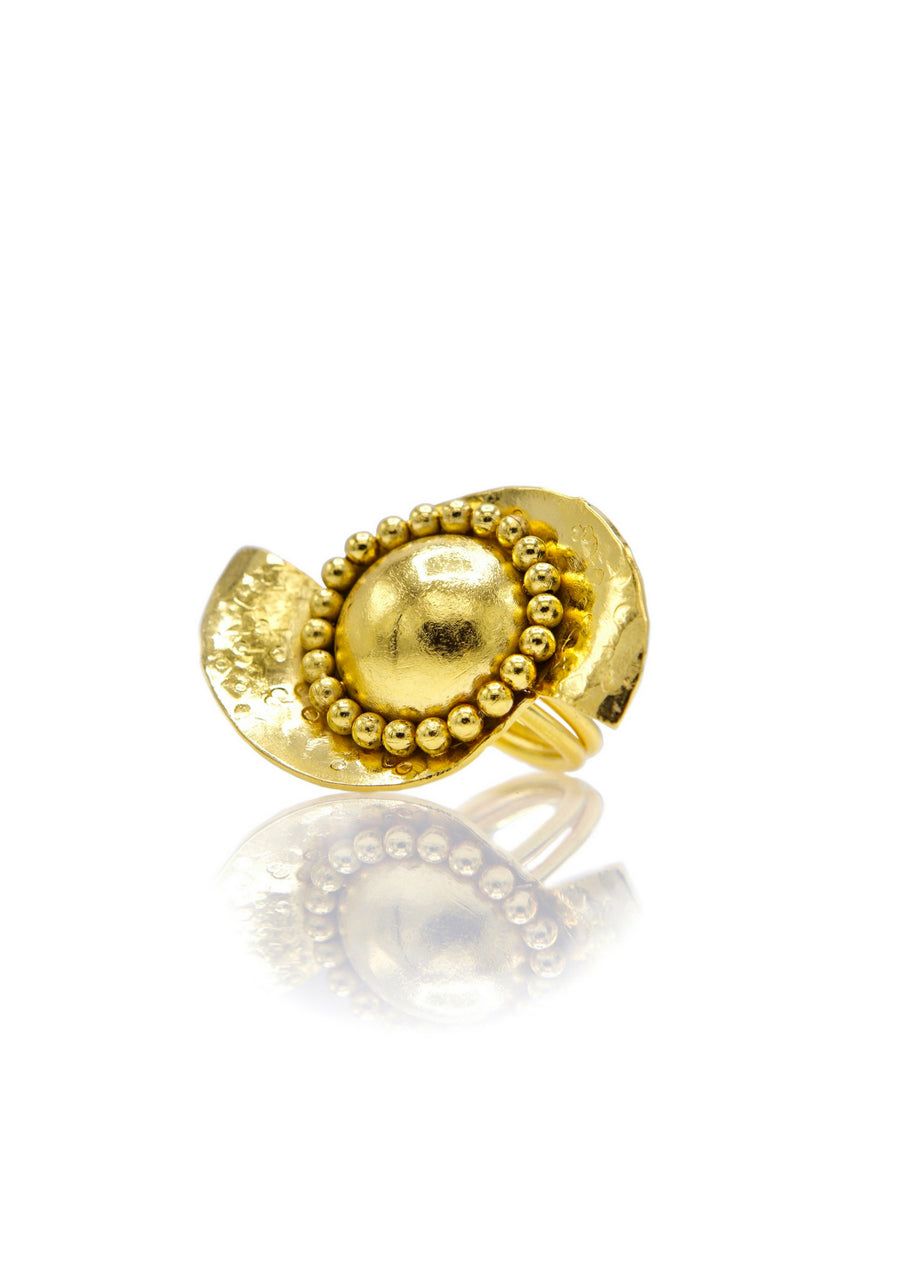 Monsoon Swirl Gold Ring-Womens rings-Jared Jamin Online-JARED JAMIN
