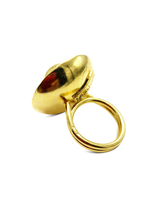 Orbita and Saucer Gold Ring-Womens rings-Jared Jamin Online-JARED JAMIN