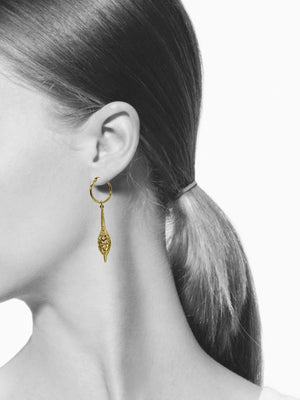 Oriental Charm Hoop Earrings-Earrings-JAREDJAMIN Jewelry Online-JARED JAMIN