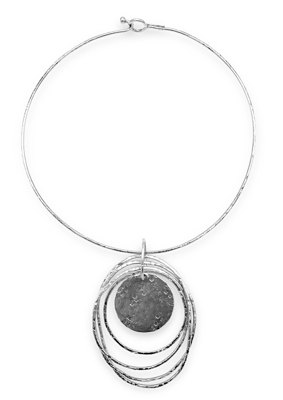 Silver Peacock Dawn Necklace-Necklaces-Jared Jamin Online-JARED JAMIN