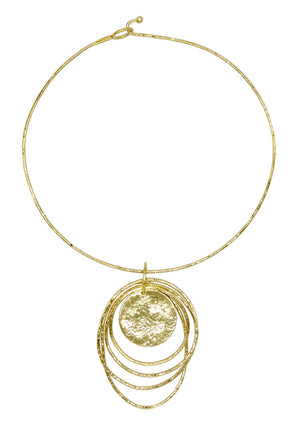 Gold Peacock Dawn Necklace-Necklaces-Jared Jamin Online-JARED JAMIN