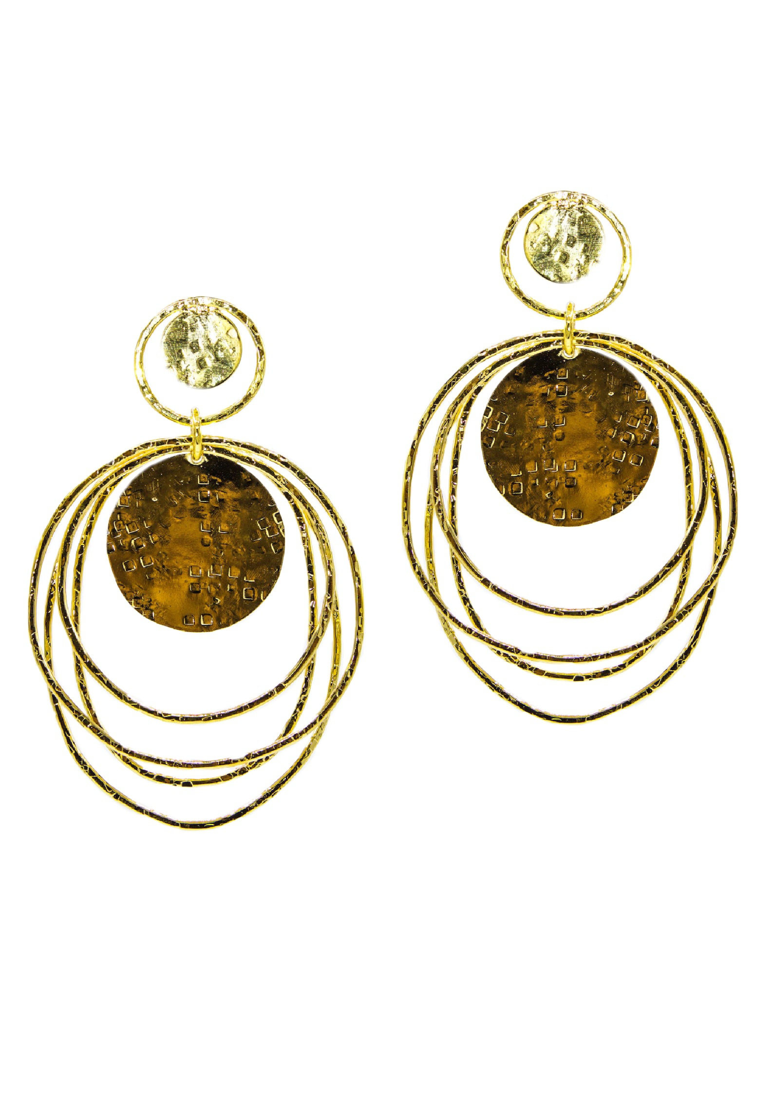 Peacock Dawn Clip Earrings-Earrings-JAREDJAMIN Jewelry Online-JARED JAMIN