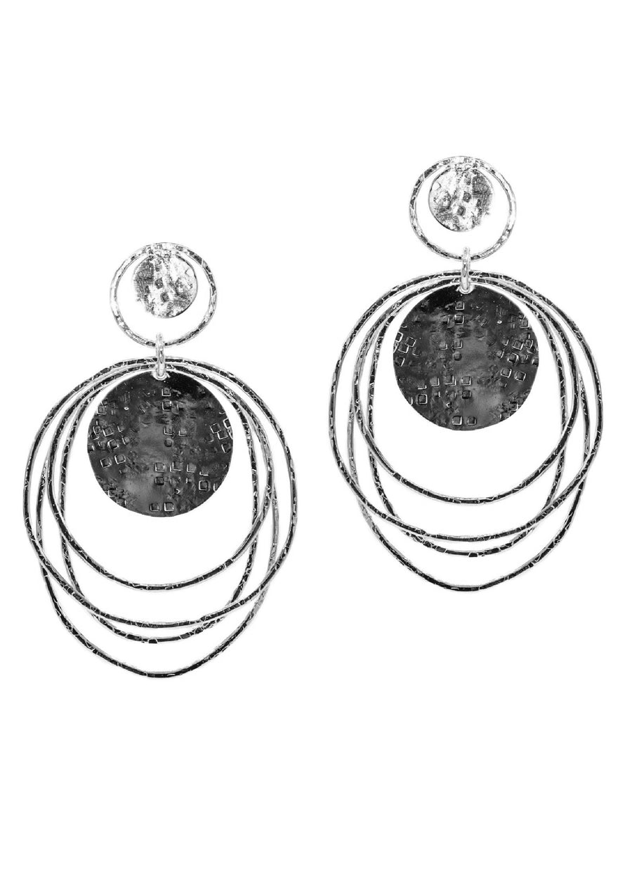 Silver Peacock Dawn Clip Earrings-Earrings-Jared Jamin Online-JARED JAMIN