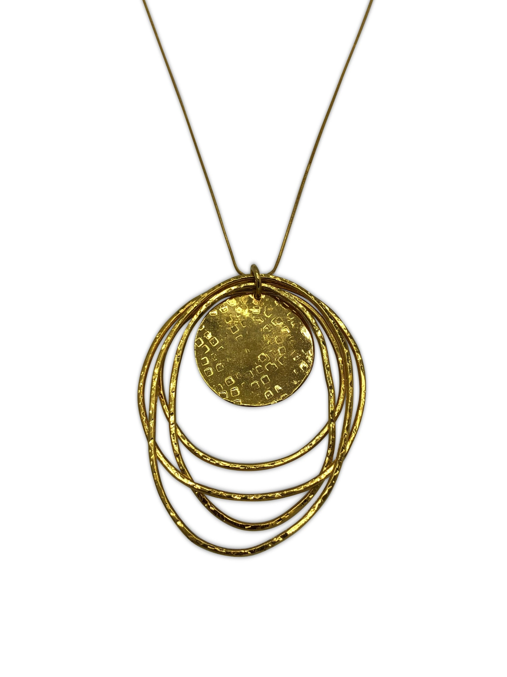 Peacock Dawn Gold Pendant Chain Necklace-Necklaces-JAREDJAMIN Jewelry Online-JARED JAMIN