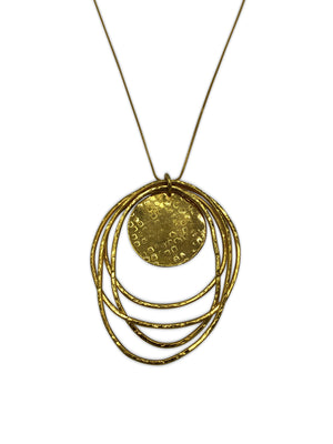 Peacock Dawn Gold Pendant Chain Necklace-Necklaces-Jared Jamin Online-JARED JAMIN