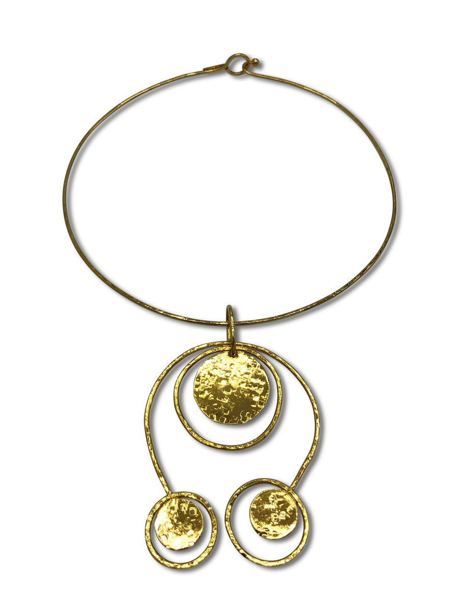 Peacock Pow Gold Wire Necklace-Necklaces-Jared Jamin Online-JARED JAMIN