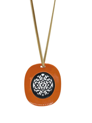 Peek-A-Boo Tangerine-Necklaces-JARED JAMIN-JARED JAMIN
