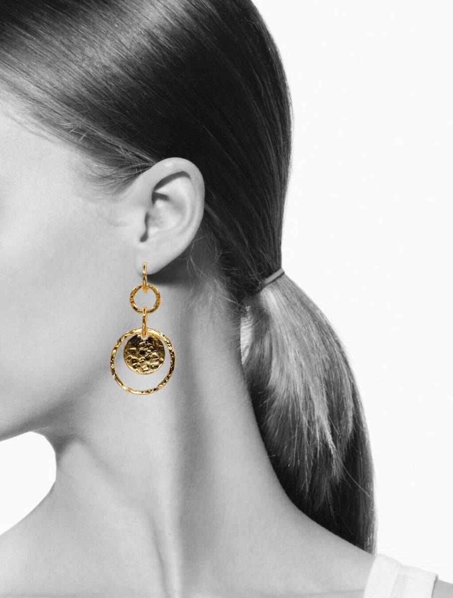 Gold Peacock Preen Post Earrings-Earrings-Jared Jamin Online-JARED JAMIN
