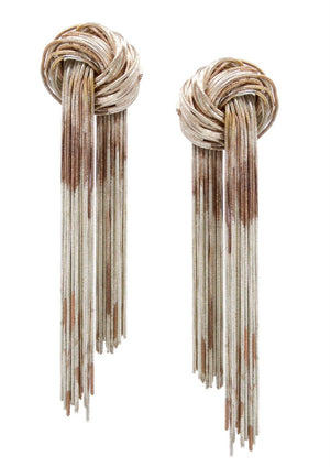 Regency Rope Distressed Tone Earrings-Earrings-Jared Jamin Online-Distressed Silver Copper-JARED JAMIN